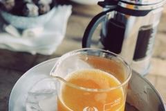 Fresh breakfast with orange juice