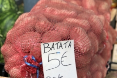 Potatoes for sale at the farmers market