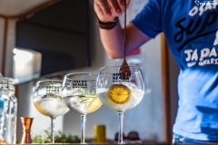 Making the perfect gin and tonic