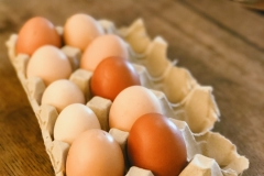 Fresh, organic and free-range eggs for breakfast