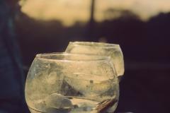 Sundown drinks at The Solar Branco Eco Estate