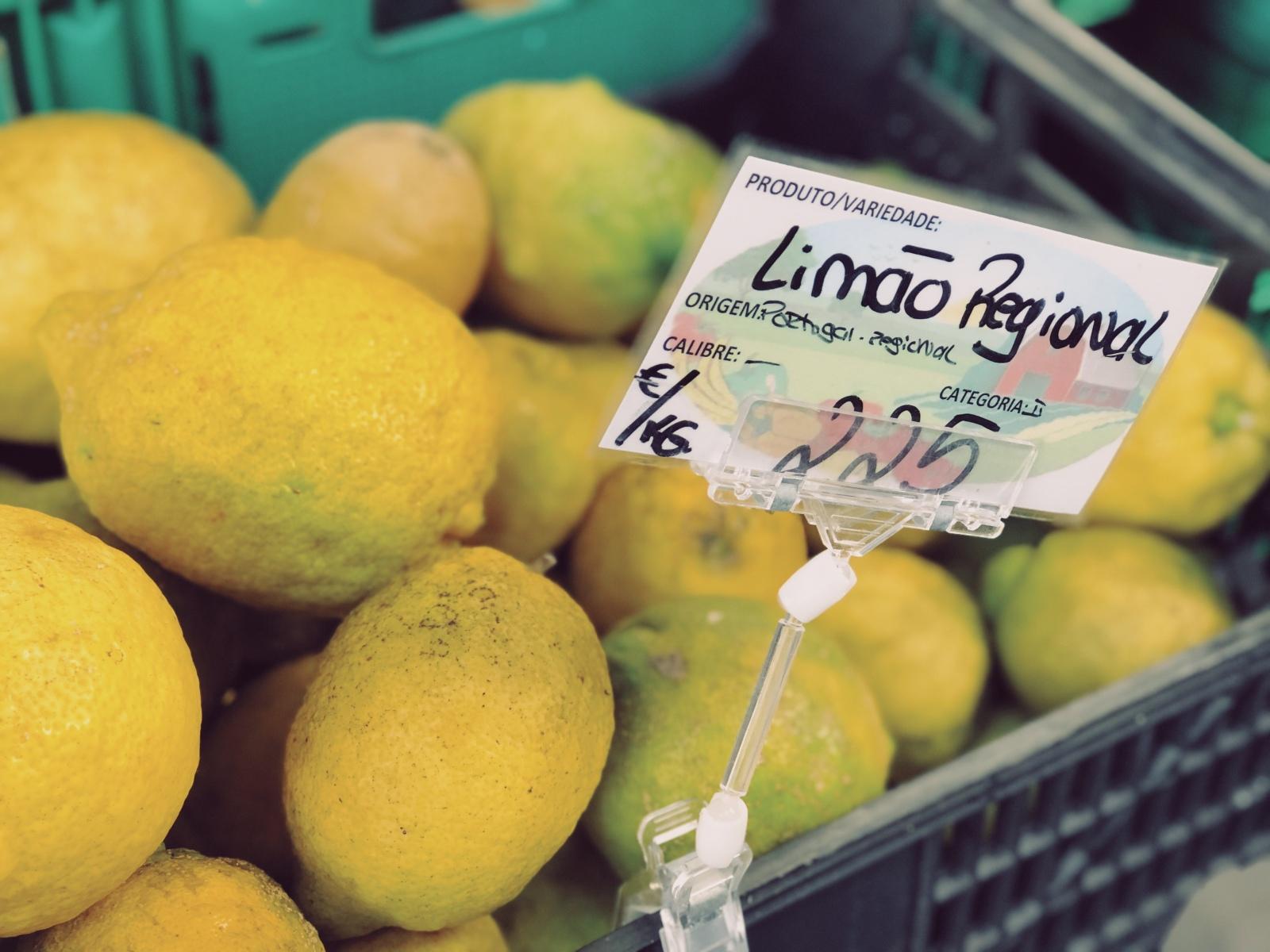 Fresh lemons from the market