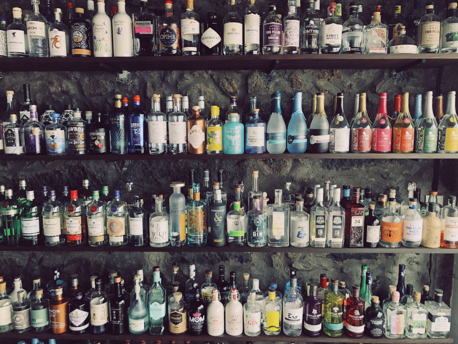 The Gin Library's full collection: 450