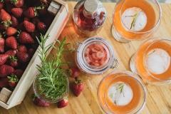 Strawberry gin