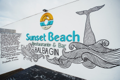 New sign at Sunset Beach Bar for Baleia Gin